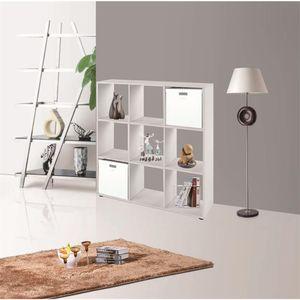 Raumtrenner Weiß 9 Fächer Bücherschrank Regalwand Kinderregal Holzregal Regal