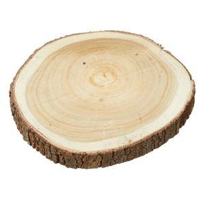 Holzscheibe Baumscheibe Dekobrett Holz Holzbrett Brett Tischdeko Tablett Ø 30 cm