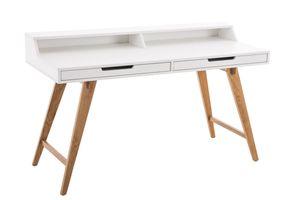Schreibtisch Eaton 110 cm, Farbe:weiß, Größe:140 cm