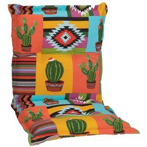 Gartenstuhl Auflage Nizza – Niedriglehnerauflage für Gartenstühle, Dessin:Mexico, Anzahl:1x