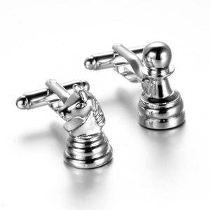 Vintage Silber Schach Form Herren Hemd Manschetten knöpfe Manschetten knöpfe Schmuck Geschenke
