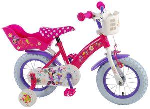 12 Zoll Fahrrad Kinder Mädchenfahrrad Kinderfahrrad Rad Bike Disney Minnie Mouse Bow Tique Roze mit Rücktrittbremse VOLARE 31226 CH