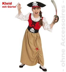 Piratenmädchen Kostüm, versch. Größen