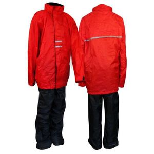 Ralka Kinder Regenanzug Rot/Schwarz, Größe:152