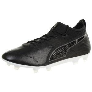 PUMA ONE 19.3 FG/AG Herren Low Boot Fußballschuhe Schwarz-Weiss Schuhe, Größe:46
