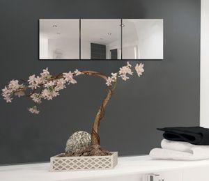 MSV Spiegel Spiegelfliesen Wandspiegel Fliesenspiegel selbstklebend 12 Stück - 30x30cm