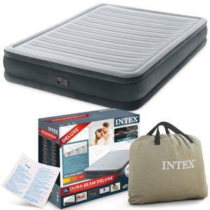 INTEX Luftbett 67770 King Size 152 x 203 x 33 cm eingebaute Pumpe Fiber Tech™ Technology