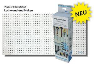 Werkzeugwand-Set - Lochwand aus Holz (MDF) + 67-teiliges Hakenset