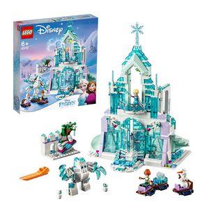 LEGO 43172 Disney Princess Frozen Die Eiskönigin Elsas magischer Eispalast, Set mit Elsa & Anna Minipuppen und Spielplatz