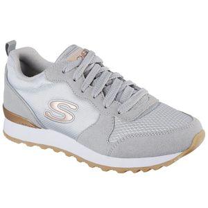 Skechers Retros Damen Sneaker Grau Schuhe, Größe:38