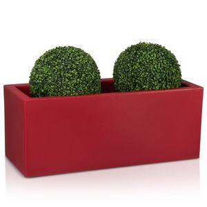 Pflanztrog MURO 40 Kunststoff, Maße: 100x40x40 cm (L/B/H), Farbe:  rot matt