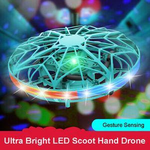 Mini-Drohne LED Fliegender Ball UFO Induktionssuspension RC-Flugzeuge Hand Flying Spielzeuge
