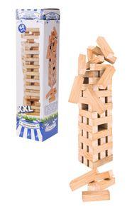 Wackelturm XXL aus Holz - 60 Teile - 50 cm