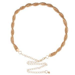 Damen Kette Gürtel Gold Taillengürtel Hüftgürtel Kettengürtel Kleidgürtel Kleid Dekoration