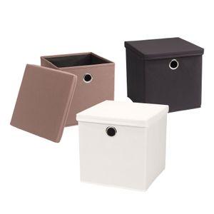Echtwerk Faltbox Rack 2er Set, Farbe:Anthrazit/Schwarz