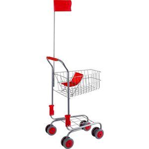 Small Foot Design 4046 Einkaufswagen für Kaufladen, silber (1 Stück)