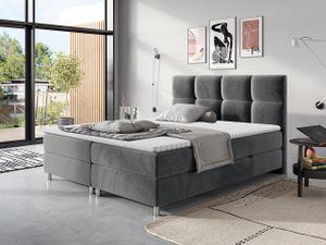 Mirjan24 Boxspringbett Dave, Stilvoll Doppelbett mit zwei Bettkästen, Matratze und Topper (Farbe: Fresh 32, Größe: 160x200 cm)