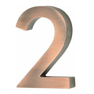 Hausnummer Scala kupfer Nr. 2