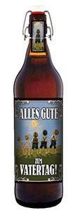 Alles Gute zum Vatertag 1 Liter Bier mit Bügelverschluss