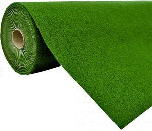 Rasenteppich Kunstrasen mit Noppen (1.150 g/m²), Farbe:Grün, Größe:200 x 500 cm