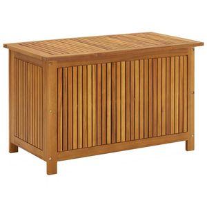 vidaXL Garten-Aufbewahrungsbox 90x50x58 cm Massivholz Akazie