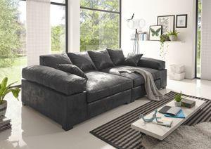 Big Sofa Vintage in verschiedenen Farben schwarz Megasofa