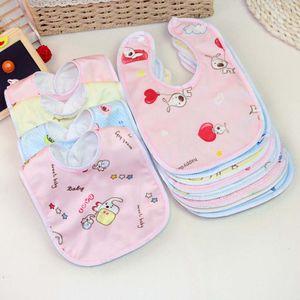 4 Stück U-förmige Baby Speichel Handtuch wasserdicht und Anti-Spucke Milch Kinder Cartoon essen Lätzchen zufällige Farbe