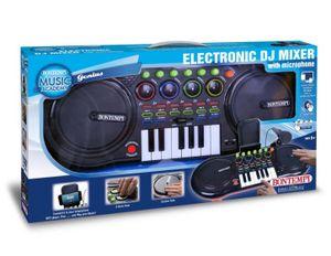 Bontempi DJ-Mischer mit Mikrofon und Tastatur 53,5 cm schwarz