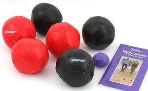 Soft Indoor Petanque, das Boule - Spiel für drinnen inkl. Zielkugel und Regel