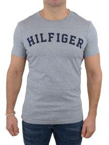 Tommy Hilfiger Herren T-Shirt Kurzarm SS Tee Logo UM0UM00054 Grau M
