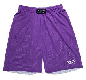 K1X Reversible Practice Basketball Shorts, Farbe:Violett / Grau, Kleidergröße:M