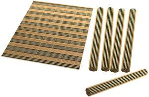 6 Tischsets aus Bambus 2farbig ca. 40 x 30cm