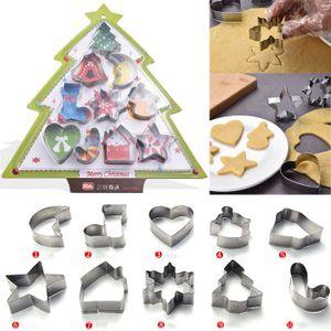 Melario 10 Stk Plätzchenausstecher Keksausstecher Ausstechformen Keks Plätzchen Ausstecher Set Weihnachten Weihnachtsgeschenk