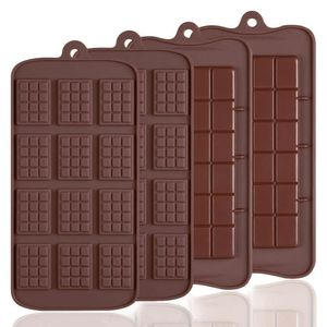 4 PCS Silikon Schokolade Formen, Break-apart Schokolade, 2 Arten von Break Apart Antihaftbeschichtung Candy Protein und Energie Bar Form Backblech