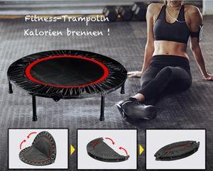 Fitness Trampolin_Ø 100 cm_belastbar bis 200kg_Indoor Trampolin_Gartentrampolin_ platzsparend faltbar