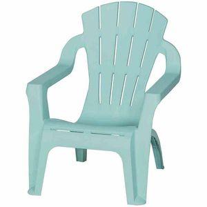 Kinder Gartenstuhl / Kinder Deckchair stapelbar hellblau-türkis