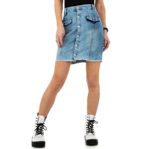 Ital-Design Damen Röcke Jeansröcke Blau Gr.l
