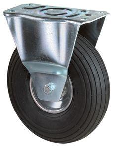 BS Rollen L410C90260 Bockrolle luftberei.260mm, schwarz/silber