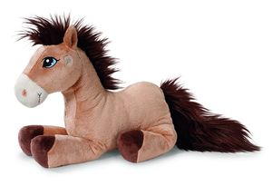 Nici Stofftier Pferd Moon stehend 35 cm Kuschelkissen Kopfkissen Hellbraun 38744