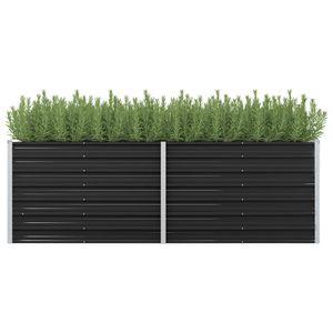 vidaXL Garten-Hochbeet Anthrazit 240 x 80 x 77 cm Verzinkter Stahl