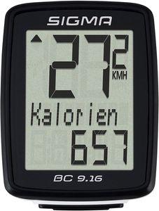 Fahrradcomputer Sigma BC 9.16 Fahrradtacho Tachometer Geschwindigkeit kabelgebunden