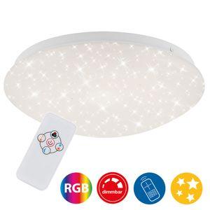 LED Deckenleuchte Sternendekor Fernbedienung RGB 10W Ø26cm Briloner Leuchten