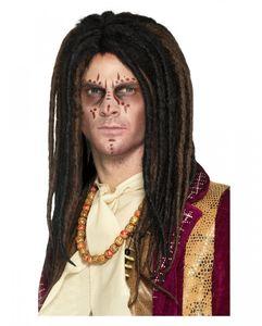 Voodoo Dreadlock Perücke als Rastafari Kostümzubehör für Halloween und Karneval