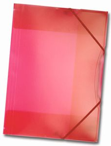 Folia Sammelmappe mit Gummiband, DIN A3, 1 Stück, transparent rot