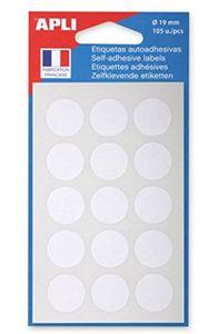 agipa Markierungspunkte Durchmesser: 19 mm rund weiß 105 Stück