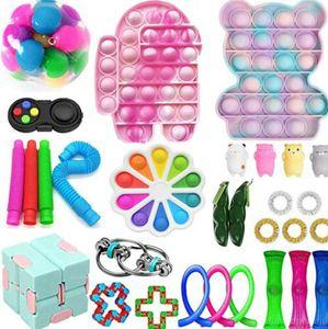 30X Pop It Fidget Sensory Toy Set Autismus SEN ADHS Fidget Stressabbau Spielzeug