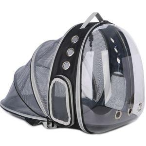 Haustier Reise Rucksack, Katzentransportrucksack,Faltbarer tragbarer Haustier-Rucksack für Hunde und Katzen,schwarz