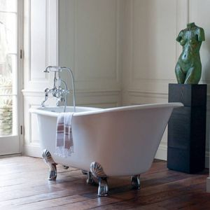 Casa Padrino Jugendstil Badewanne Naturstein freistehend 1700mm BHan Weiß - Freistehende Retro Barock Antik Badewanne, Badewannen Füsse:Luxury Claw Weiß