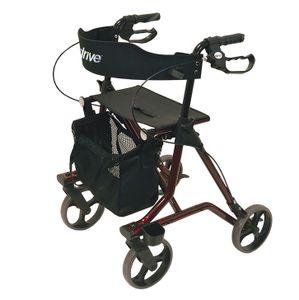 Leichtgewicht-Rollator Torro mit Netztasche, Rückengurt, Ankipphilfe und Stockhalter - nur 6,9 kg