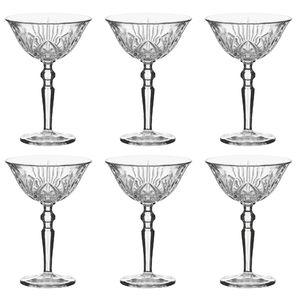 Nachtmann Cocktailschale Palais 230 ml, Kristallglas mit Schliffdesign (6 Stück)